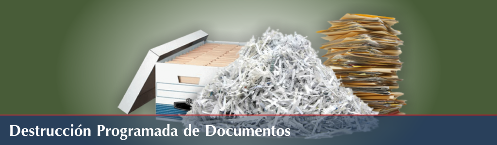 destrucción de documentos